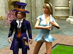 Bully mature brunet and her impudent hung son play raging near the pool
