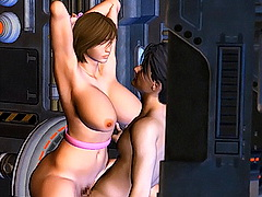 Perky breasted 3d toon lita poses nude outdoors for you