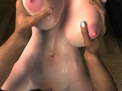 Angelic 3d toon teen girl britt poses nude   for you.