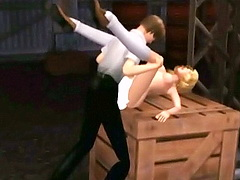 Bosomy fledged wanking forth brother`s dick and fetching