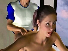 Languorous candy caught sucking her lilliputian thumb as if it is a...